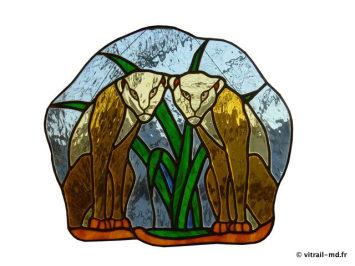 Tiffany applique murale campagne vitrail applique murale miroir